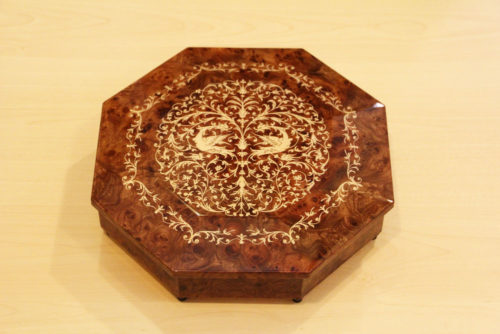 Italian inlaid music box