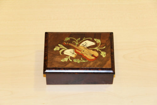 Sorrento inlaid wooden jewelry box