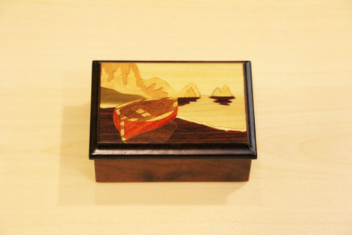 Sorrento inlaid wood box