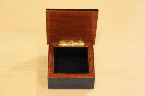 Velvet lining - Wooden inlaid box