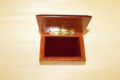Velvet lining and brass-metal lock - Inlaid jewelry box