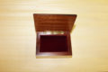 Velvet lining - Inlaid wood box