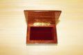 Velvet lining - Italian inlaid wood box