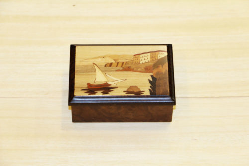 Italian inlaid wood box