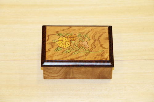 Scatola in legno intarsiato Sorrento