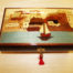 Inlaid wooden musical box