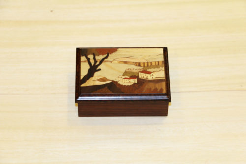 Handcrafted inlaid wood box