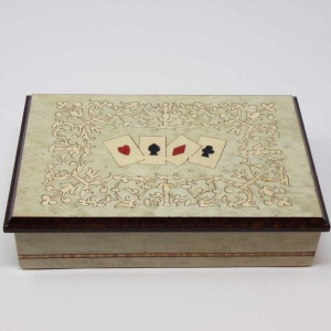 Inlaided card box + playing cards